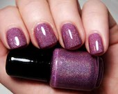 Enchanted Orchid - Custom Handcrafted Purple Holographic Nail Polish - SpellboundNails