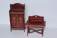 Final SALE antique German dollhouse furniture by