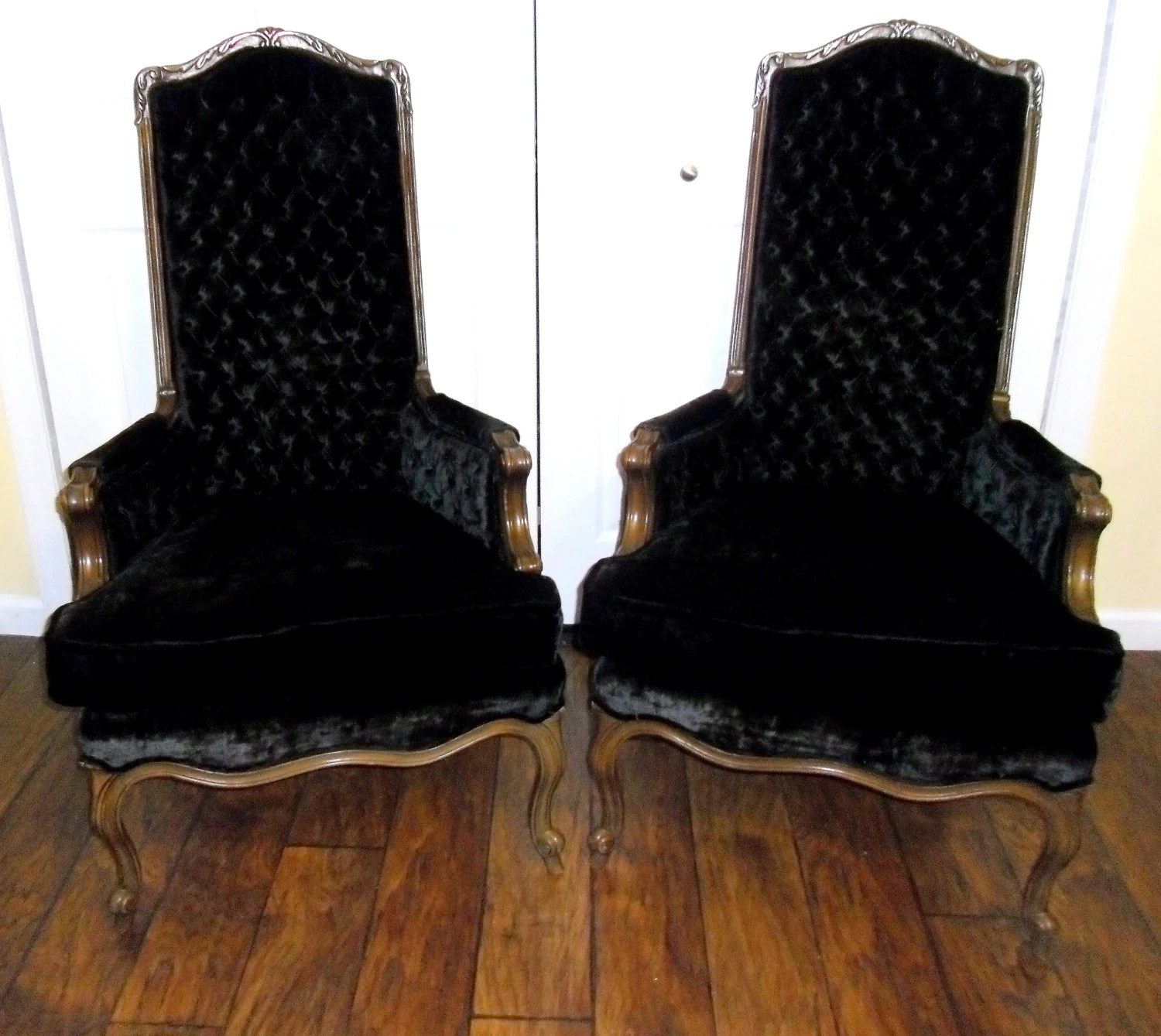 Black Velvet Chair Sale Mid Century Hibriten Tufted Velvet Chairs Hibriten