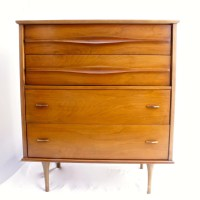 Mid Century Modern Tall Chest of Drawers by LuckySevenVintage