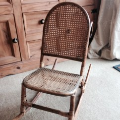 Antique Child Rocking Chair Captains Vintage Childs In