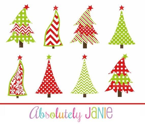 chevron damask christmas holiday