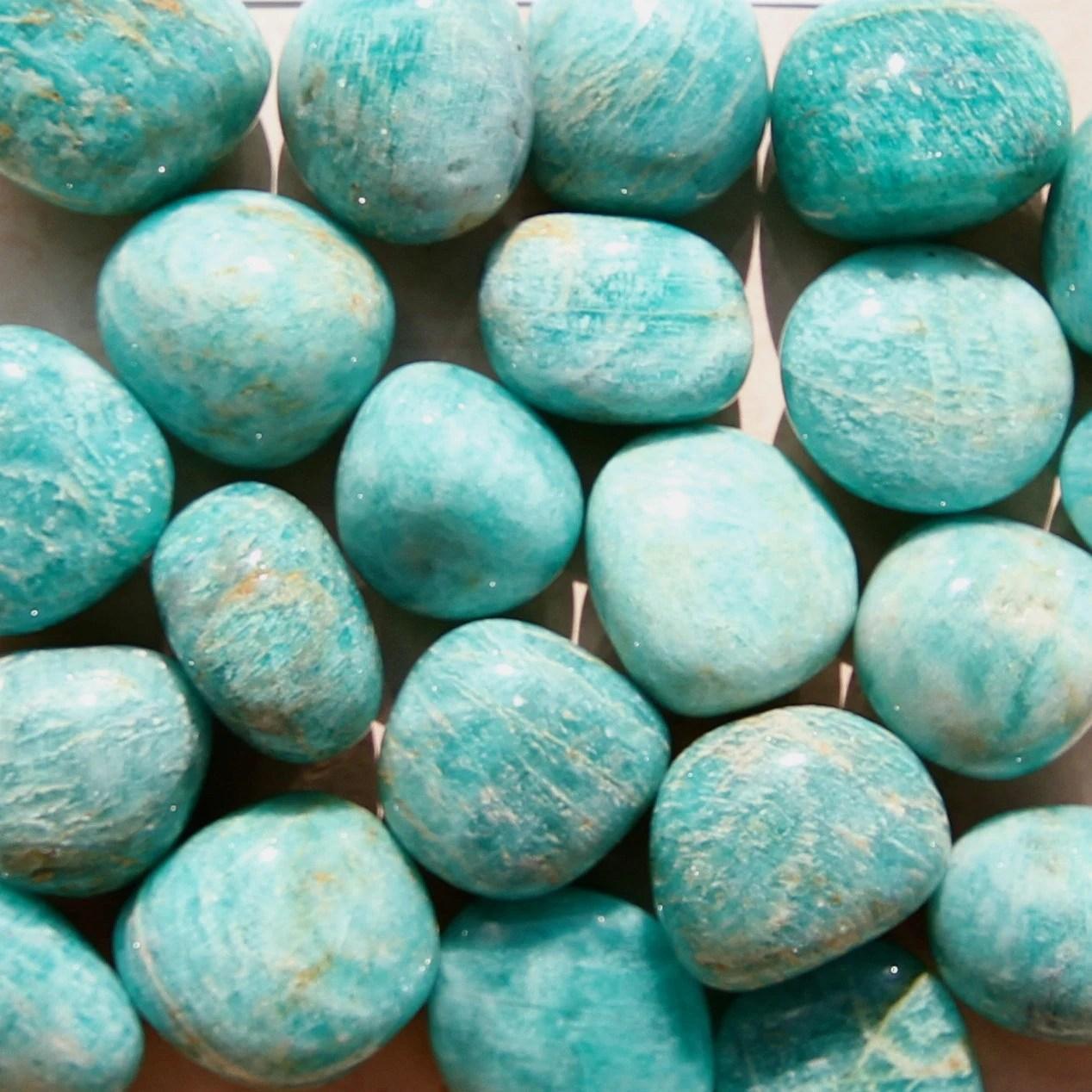 AMAZONITE Crystals Grade A Natural Tumbled Polished Gemstone