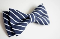 Bow Tie-navy blue and white stripes boys bow ties baby bow
