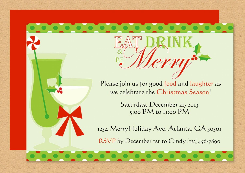 Be Merry Invitation Editable Template Microsoft Word