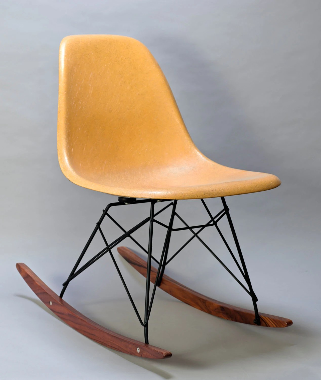 herman miller eames chair repair hunting stools and chairs rocker base black frame walnut