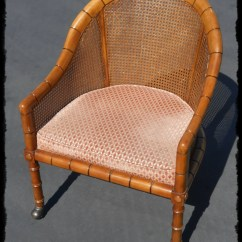 Cane Barrel Chair Wedding Sash Alternatives Mid Mod Faux Bamboo With By Chairreclamation