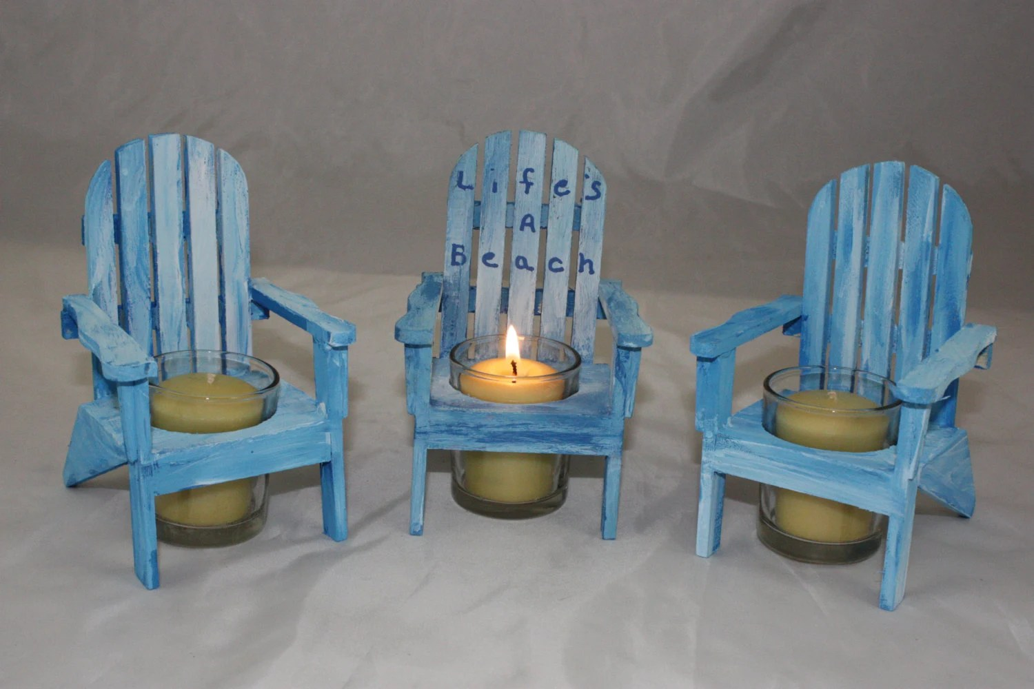 Adirondack Chair Candle Holder Wooden Candle Holder Beach