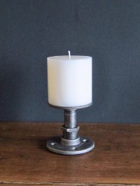 Industrial Pipe Candle Holder Medium