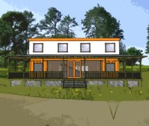 Shipping Container Home Plans 4 Bed Bath Schematic Design