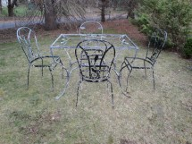 Salterini Laurel Leaf Wrought Iron Patio Set