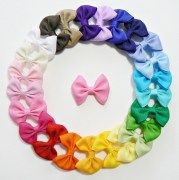 girls infant hair bow set small