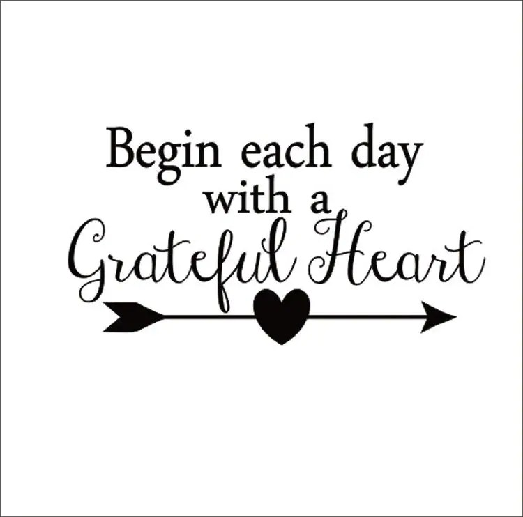 Begin Each Day With A Grateful Heart Vinyl By