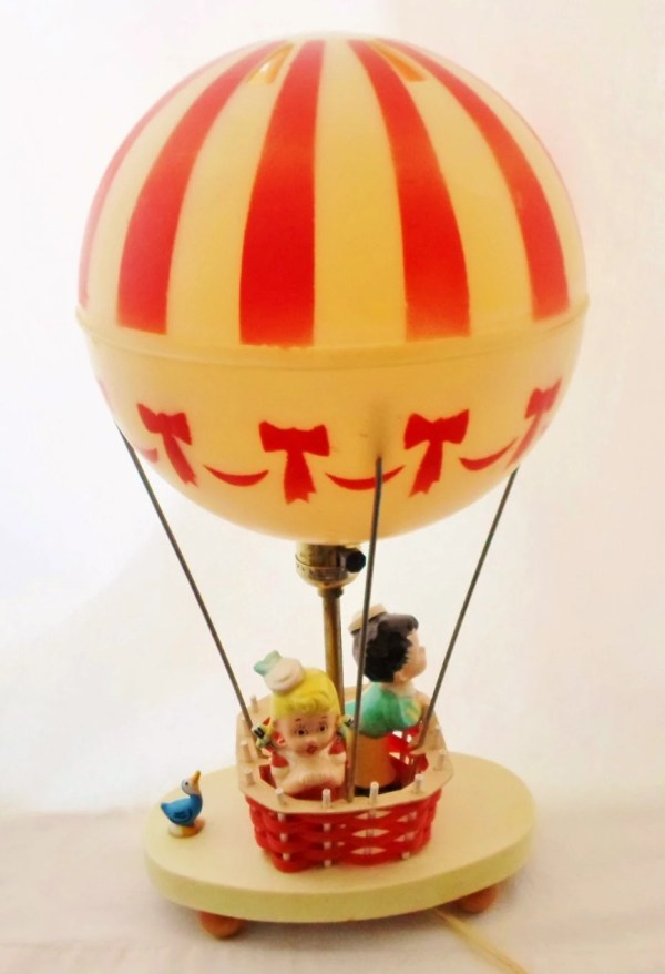 Dolly Toy Co. Hot Air Balloon Lamp Vintage 1971 Child's