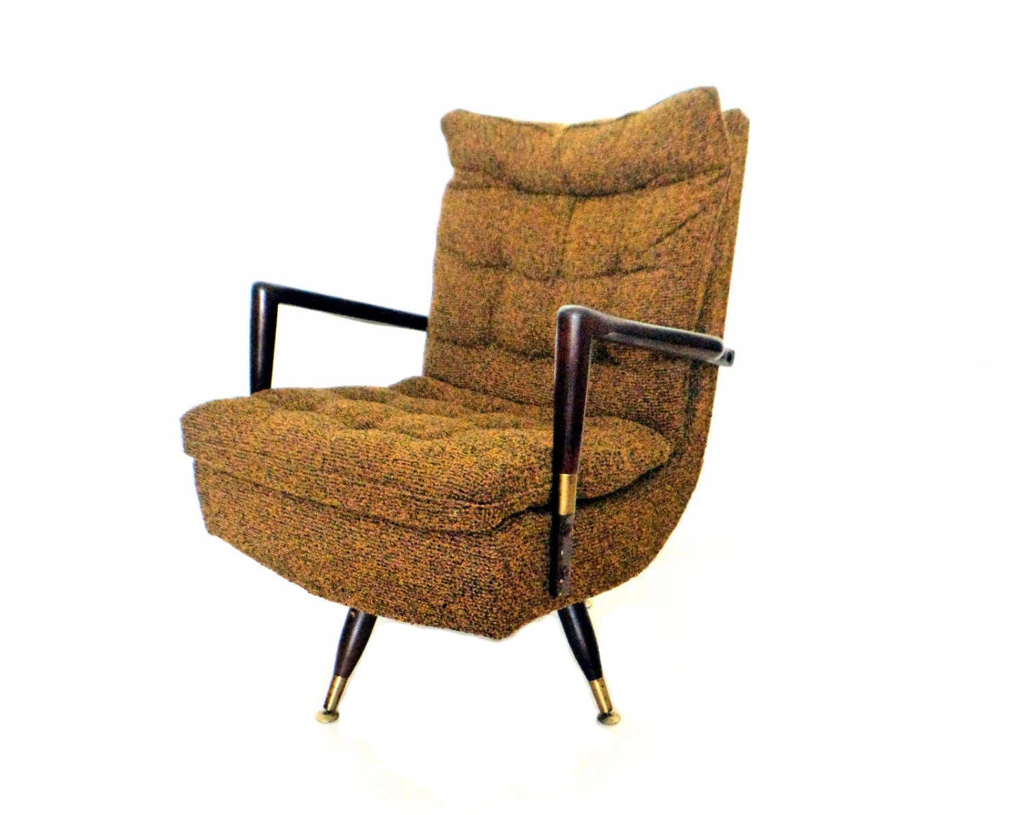 Midcentury Chair Mid Century Modern Swivel Chair Retro Rocking By