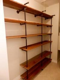 iron pipe bookshelf - 28 images - handmade industrial iron ...