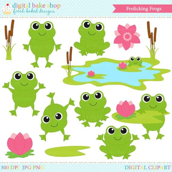 frog clip art clipart digital spring
