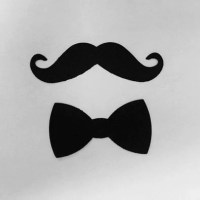100 Pack Mustache and Bowtie die cut shapes mustaches