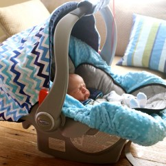 Chair Covers For Baby Dining Gorey Infant Car Seat Cover In Surf Blue And