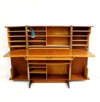 Holiday Sale Danish Modern Teak Fold-out Desk Mid Century