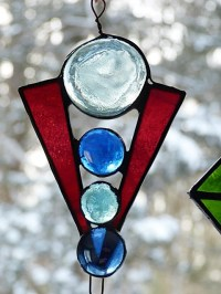Items similar to Stained Glass, Suncatcher, Art Deco ...