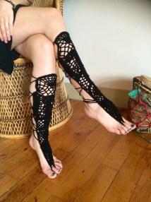 Barefoot Sandals Knee High
