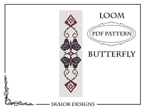 Items similar to Loom Bead Pattern Bracelet Butterfly