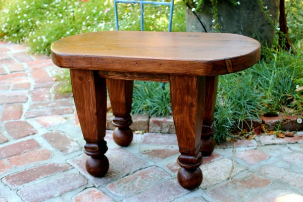 Reclaimed Furniture Small Table Oval Coffee