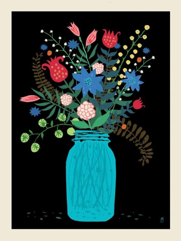 hydrangea mason jar bouquet digital