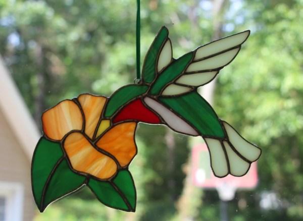 Stained Glass Hummingbird Suncatcher Imakeglass