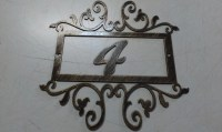 House Number Address Sign Wall decor Metal Art