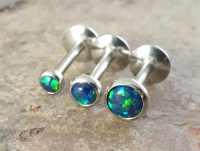 Black Opal 16 Gauge Cartilage Earring 8mm Post Tragus Monroe