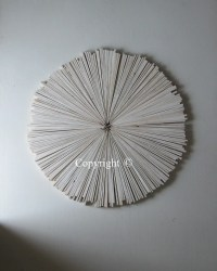 Wood Wall Art Abstract Painting on Wood Circle Round