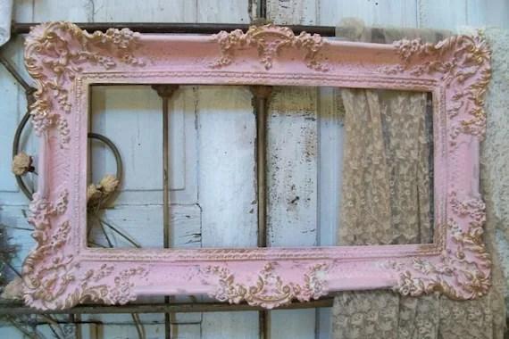 Reserved For Armando Large Ornate Vintage Frame Pink Accented