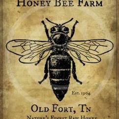 Diagram Of A Queen Bee 6 Pin Round Trailer Wiring Primitive Vintage Honey Farm Printable Jpeg Digital