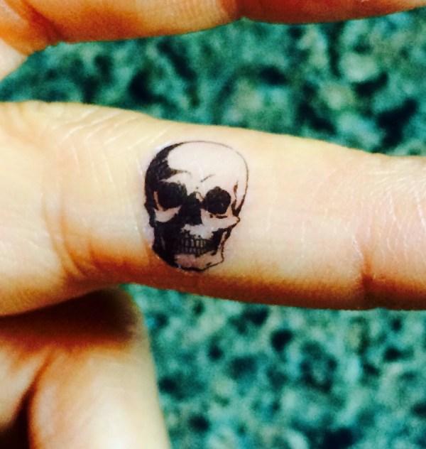 5 halloween skull temporary tattoo