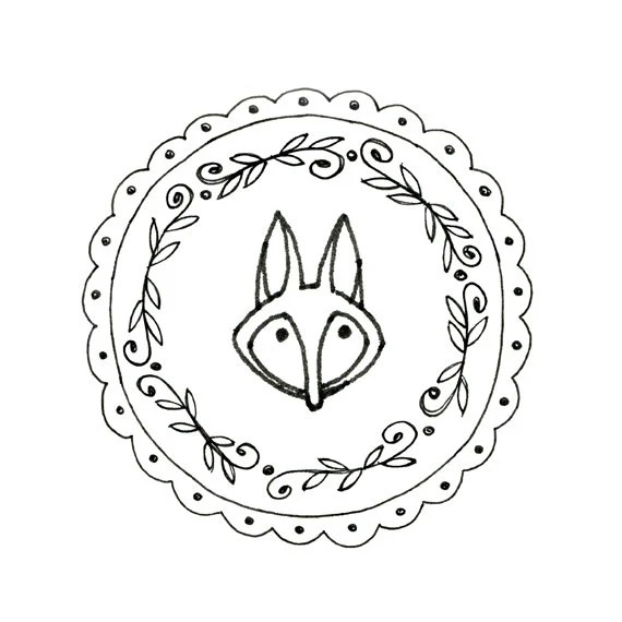 Fox Hand Embroidery Pattern Printable by teenytinyhappythings