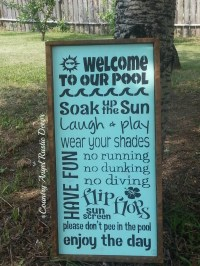 Pool sign | Etsy