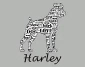 Items similar to Personalized Boxer Dog Floppy Ear Boxer