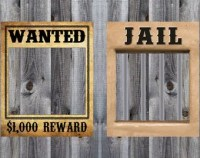 Wanted Poster Western Cowboy Rodeo Birthday Party Theme