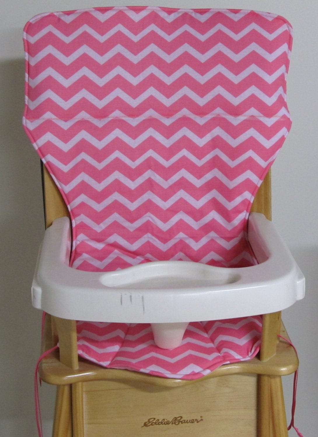 eddie bauer high chairs face down chair pad replacement cover zigzag coral