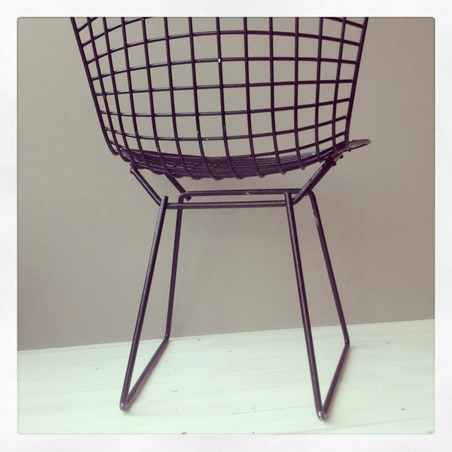 bertoia wire chair original spanish colonial dining chairs vintage 39s by harry