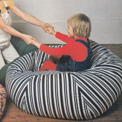 How To Sew Bean Bag Chair Teak Adirondack Vintage 1970s Giant Large Floor Cushion