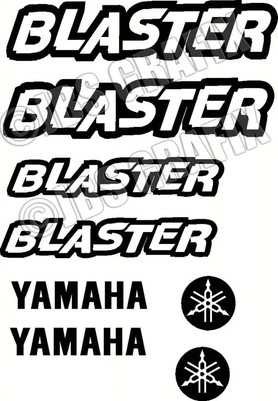 Yamaha Blaster Decal/Sticker Set