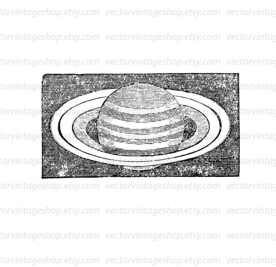 Saturn Clipart Vector Graphic Astronomy, Planet Clip Art