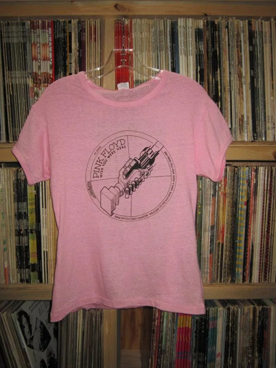 PINK FLOYD 1975 Vintage Promo Womens T Shirt By BlueArrowRecords