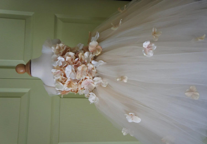 Flower girl dress Champagne Dress Champagne tutu dress flower