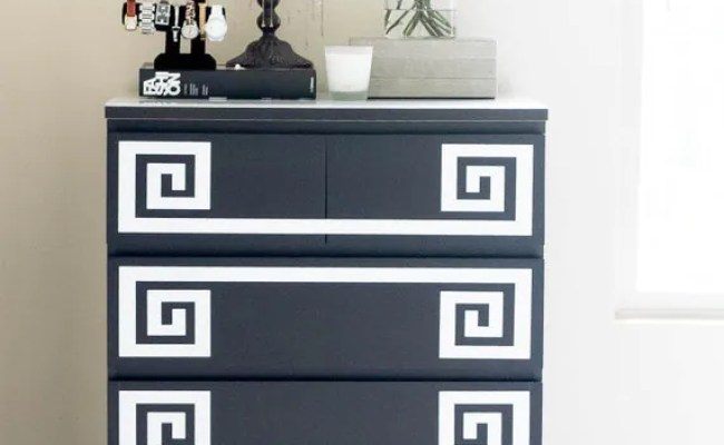Ikea Furniture Hack Greek Key Decals Malm Dresser Ikea