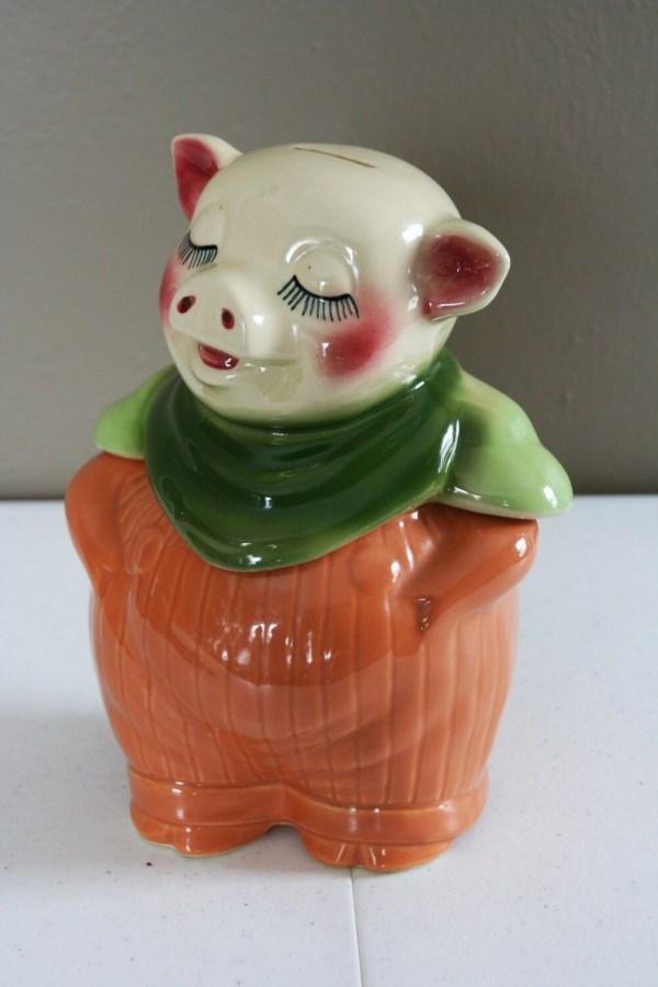 Shawnee Pottery Smiley Pig Cookie Jar