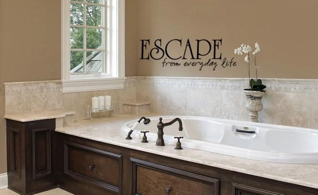 Bathroom Decor Wall Sticker Bathtub Escape Bathroom Wall